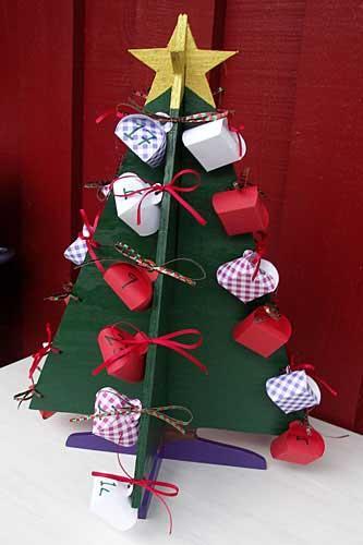 адвент календарь необычная елка