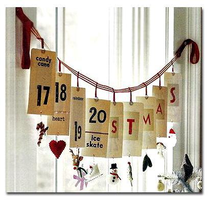 адвент календарь листы календаря