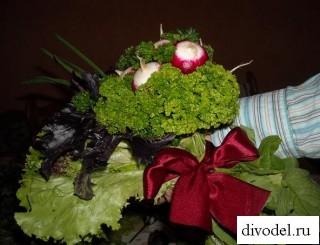 Букет из зелени, букет из зелени в подарок, зелень вместо цветов, практичный подарок