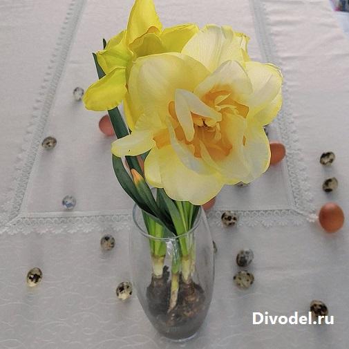 идеи на пасху, идеи к пасхе, оригинальные идеи на пасху, интересные идеи на пасху, декор на пасху, цветы с луковицами в вазе