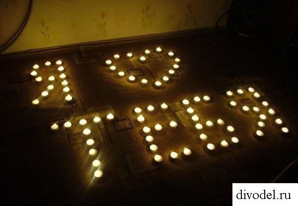 Надписи из свечей для девушки фото