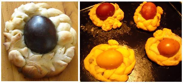 стол на пасху: корзинки для яиц