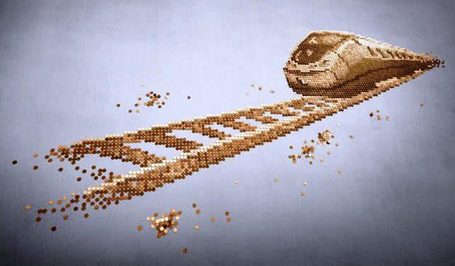 картина из монет, панно из монет