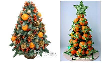 как сделать мандариновое дерево