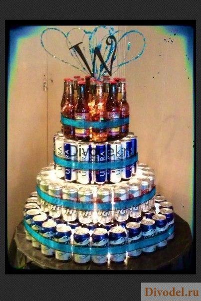 оригинальные подарки к 23 феврая, подарок на 23 февраля коллегам, торт из пива