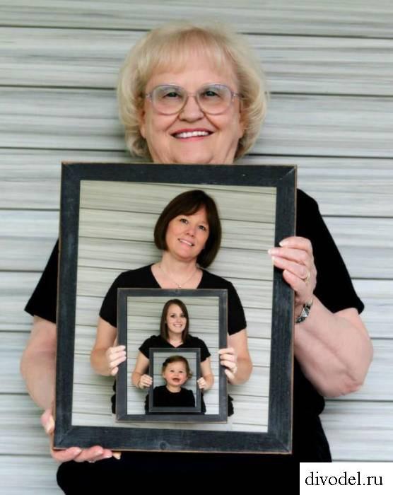Фото поколений, семейное фото, необычное семейное фото, оригинальное семейное фото, подарок бабушке, фотография семьи, фотография поколений семьи, фотография бабушка, дочка, внучка