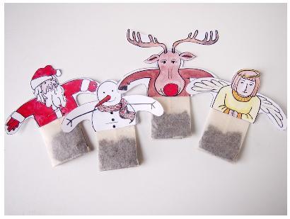 чайные пакетики новогодние своими руками