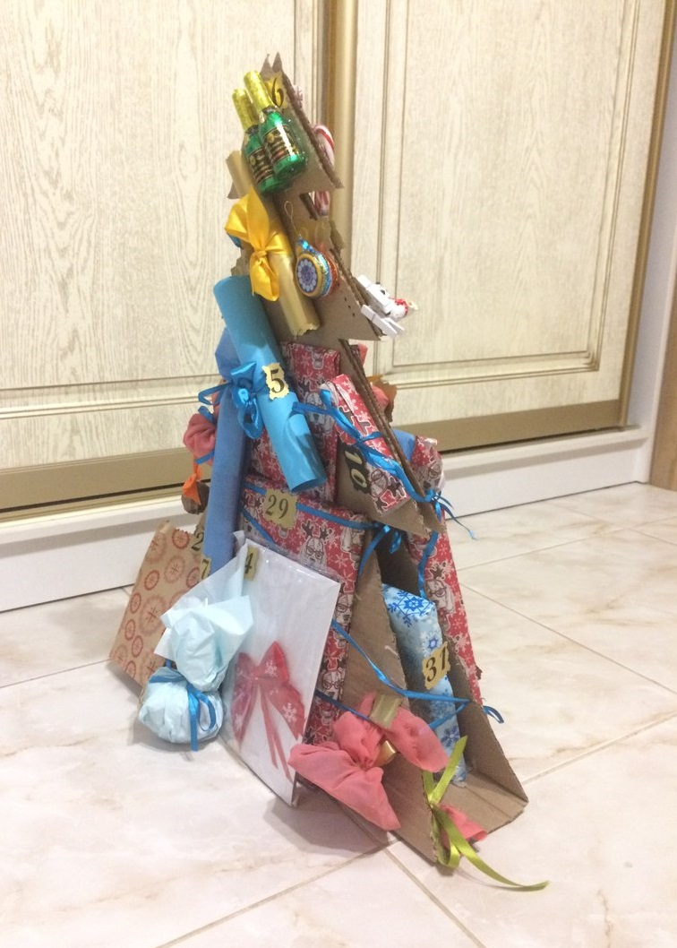 что положить в сделанный своими руками адвент календарь для ребенка