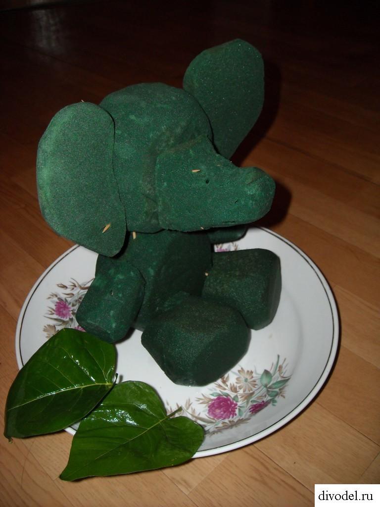Букет в виде животного своими руками: слон из цветов