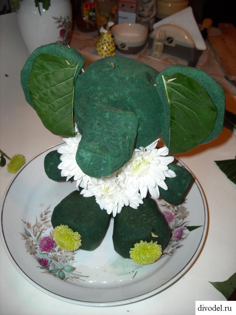Букет в виде животного своими руками: как сделать слона из цветов