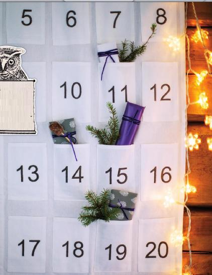 адвент календарь кармашки с подарками