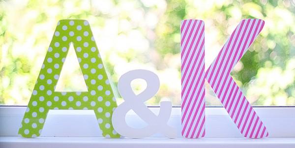 как сделать объемные буквы для интерьера и на подарок