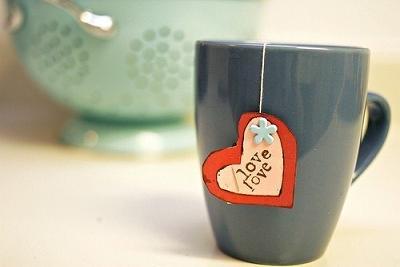 чай для любимого своими руками с сердечком