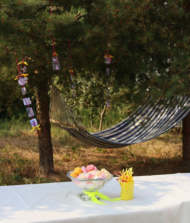 идея декора на др, фотогирлянда, декор детского дня рождения