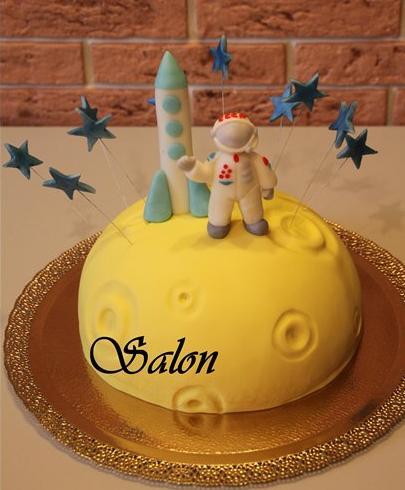космический день рождения, космический торт