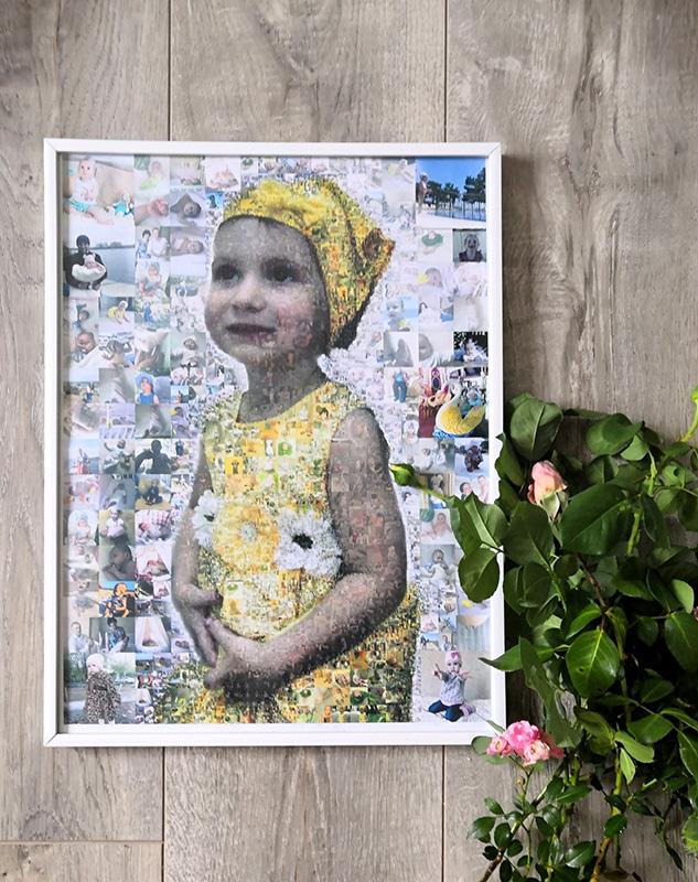 оригинальный подарок на день рождения, фотомозаика на заказ, портрет из фотографий, много фото в одной