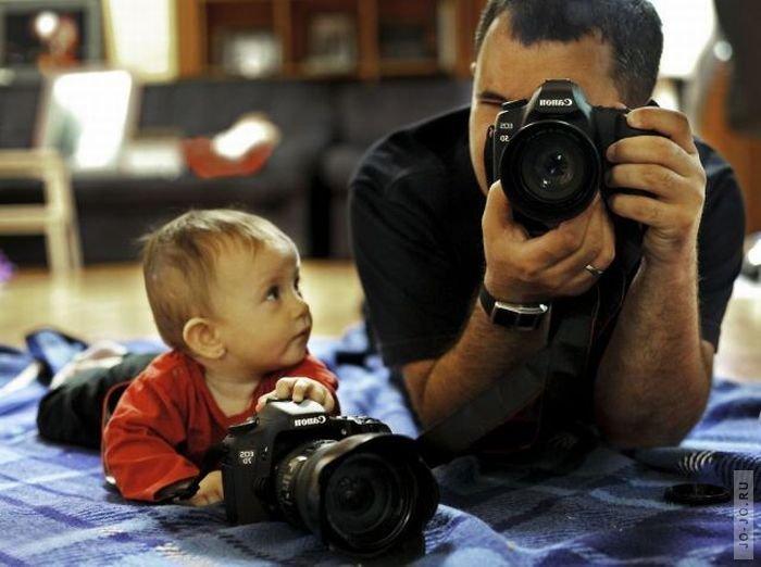 муж и ребенок фотография
