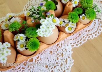 Идеи к пасхе своими руками: цветы в яйцах