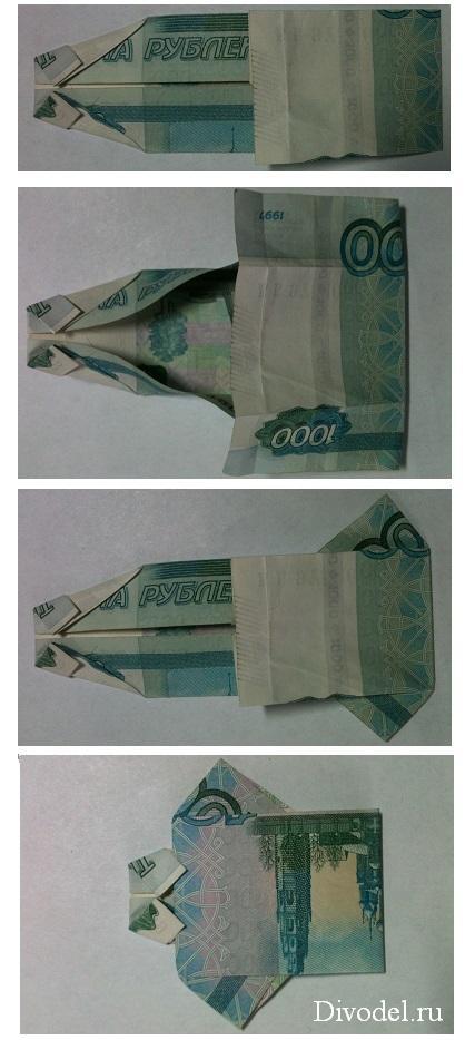 как сделать рубашку из денег: фото