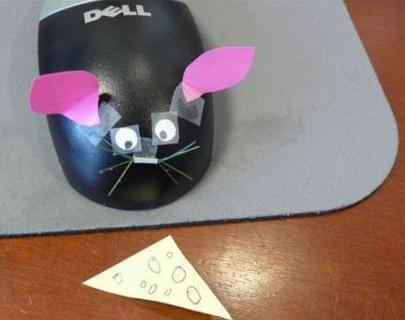 розыгрыш на 1 апреля в офисе: компьютерная мышь