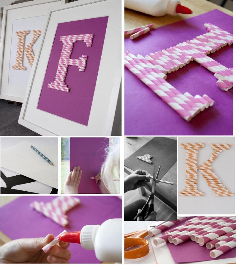 Объемные буквы и цифры для интерьера и фотосессий своими руками