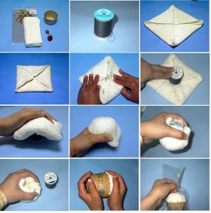 Как оригинально сложить полотенце для подарка 35