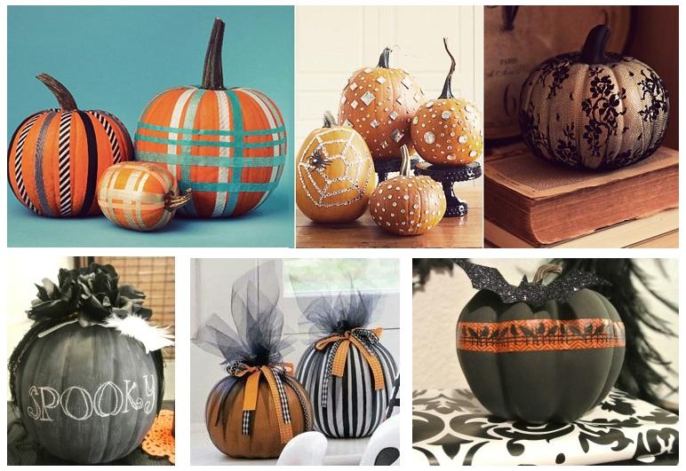 украсить тыкву, украсить тыкву на Хэллоуин, декор тыквы, укарсить тыкву своими руками