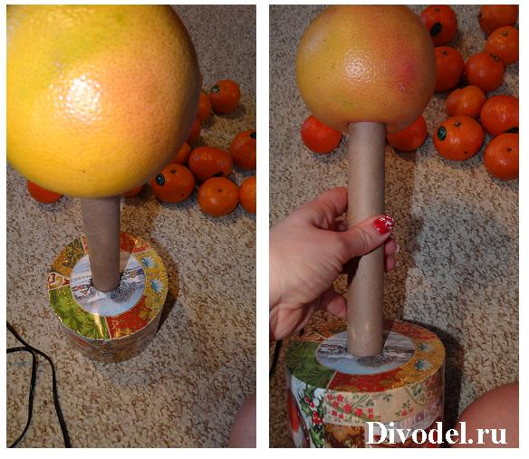 мандариновое дерево своими руками, топиарий из мандаринов, топиарий из мандаринов мастер-класс, мастер-класс, топиарий мандарины