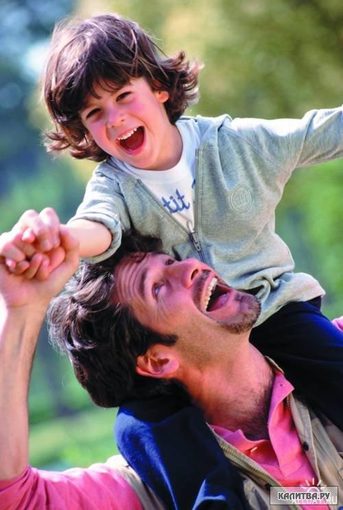 идея фото мужа с ребенком за плечами
