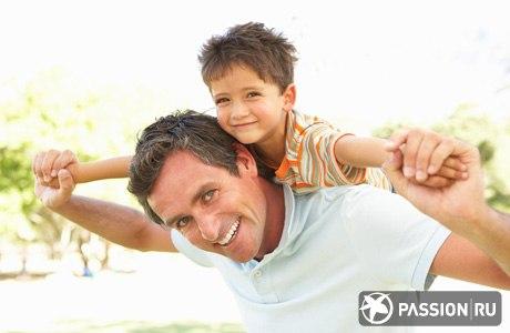 идея для фотосессии мужа с ребенком