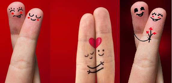 Фото пальцев на день святого Валентина как подарок