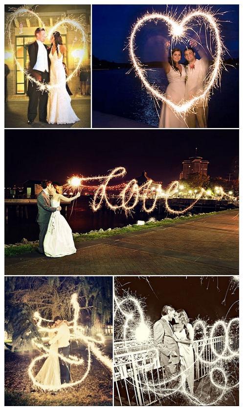 как сделать романтичную фотографию с надписью из бенгальских огней