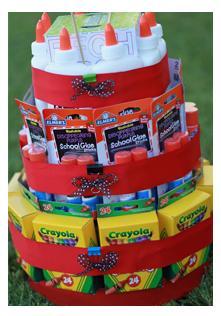 подарок своими руками к дню учителя или к 1 сентября - торт из канцтоваров