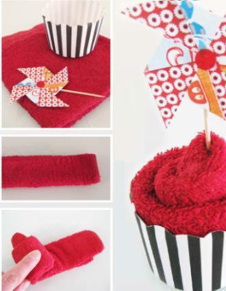 Как сделать подарок полотенце-пирожное своими руками