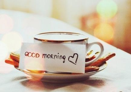 Романтический завтрак для любимого: фотография записки