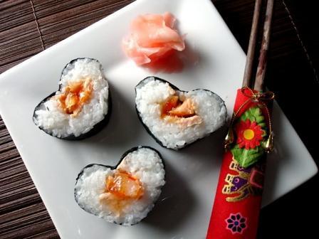 Романтический завтрак для любимого: фотография суши