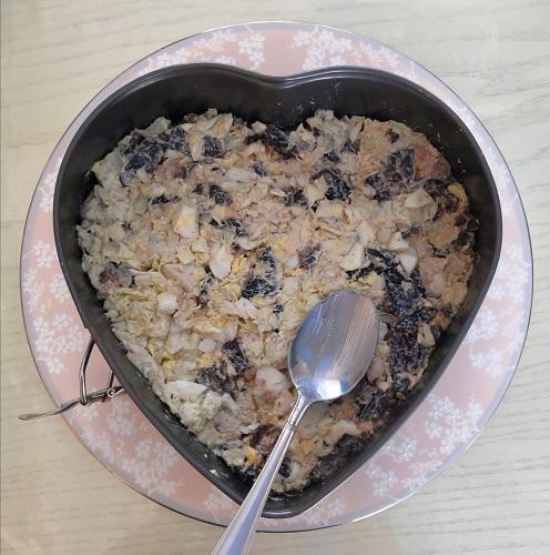 романтический завтрак, романтический завтрак на 14 февраля, завтрак на 14 февраля, завтрак для любимого, салат в форме сердца