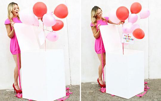 Коробка сюрприз своими руками с шарами 314
