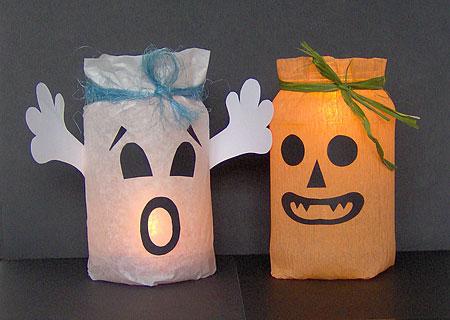 свечи к Хэллоуин декорируем