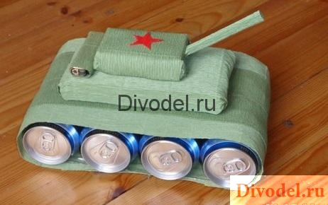 танк из пива, оригинальные подарки к 23 феврая, подарок на 23 февраля коллегам