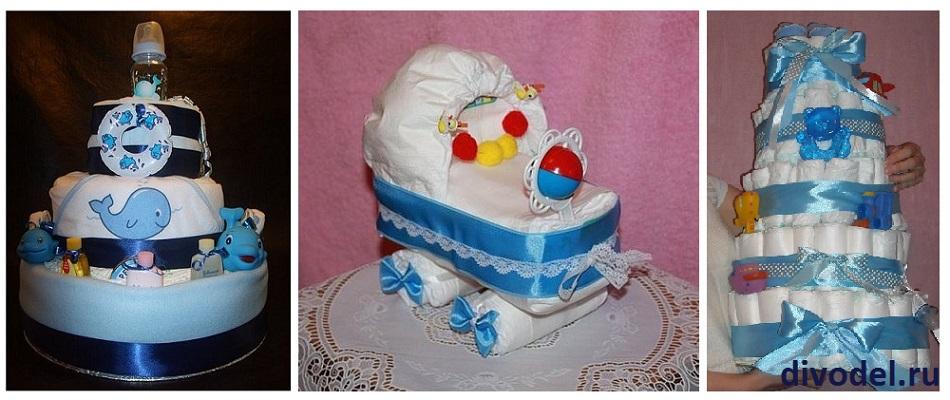 торт из папмерсов  для мальчика