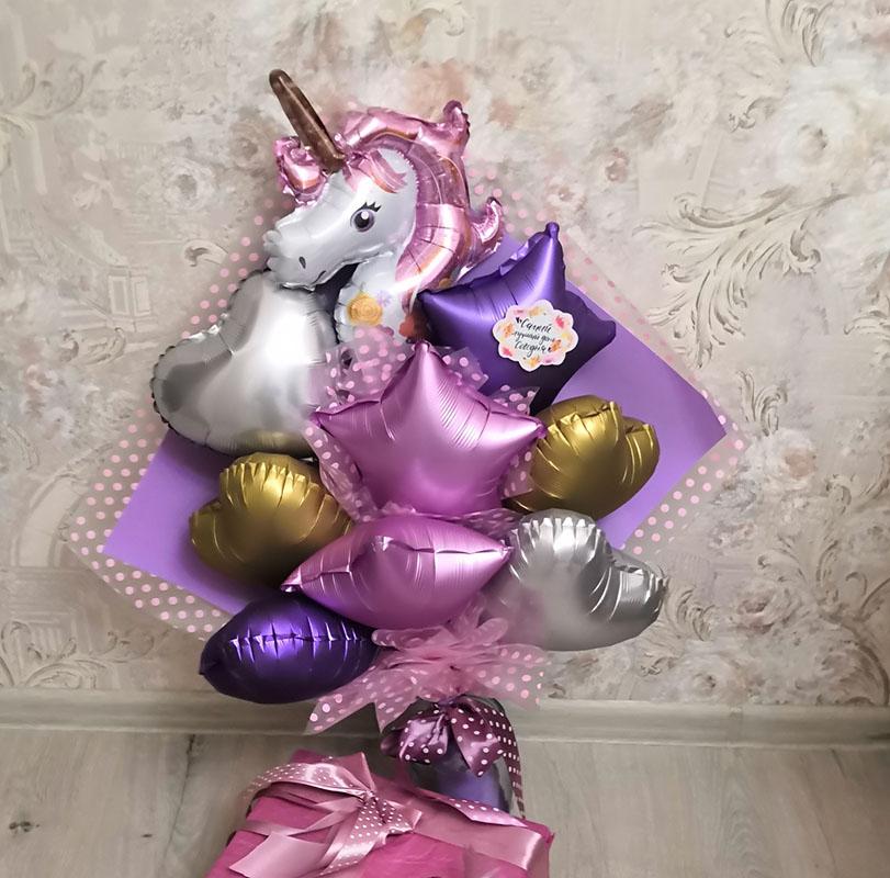 как удивить шариками, оригинально поздравить, поздравление воздушными шариками, букет из воздушных шариков