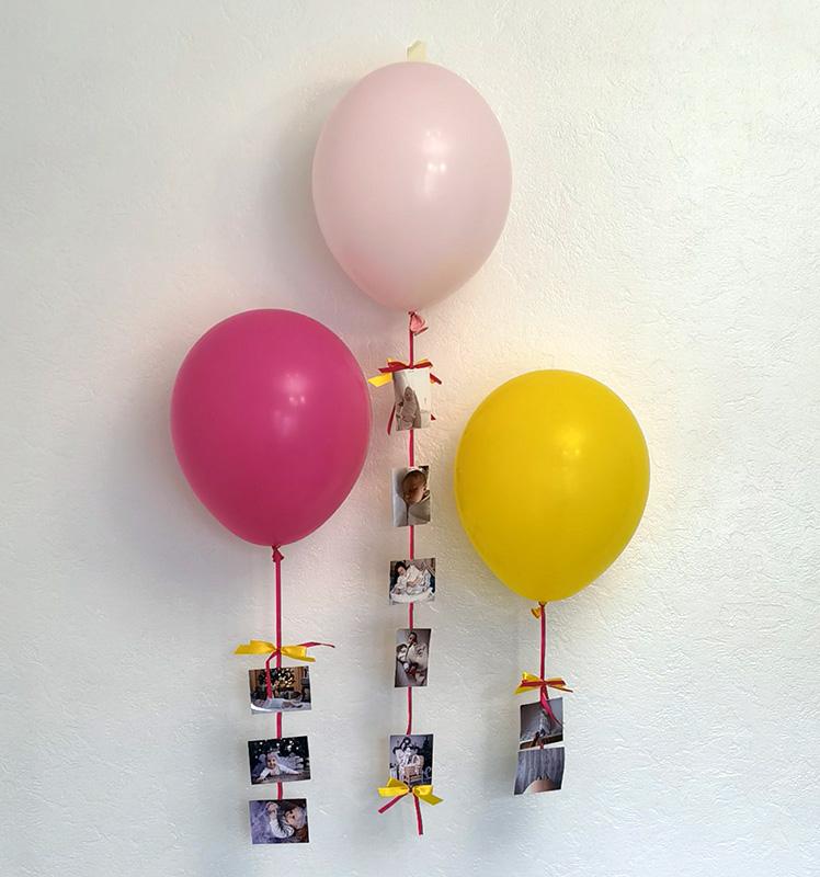 как удивить шариками, оригинально поздравить, поздравление воздушными шариками, идея декора на др
