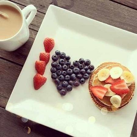красивый завтрак любимому