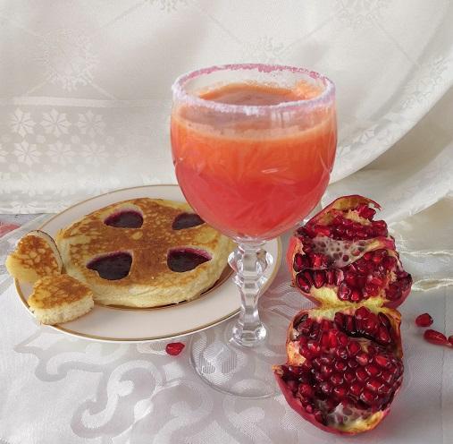 романтический завтрак, романтический завтрак на 14 февраля, завтрак на 14 февраля, завтрак для любимого, сок на 14 февраля